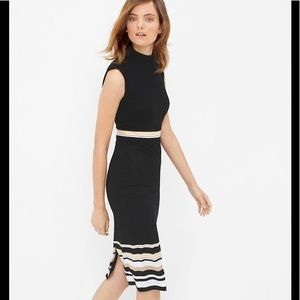 White House Black Market mock turtleneck dress